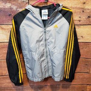 Boy's Adidas Windbreaker Jacket Full Zip Size M